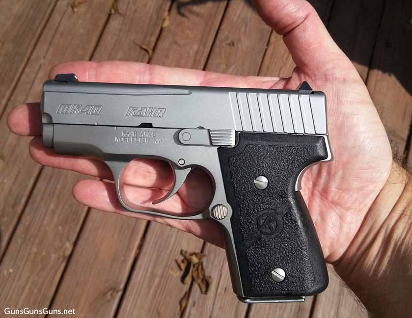 Kahr Arms MK40 in hand