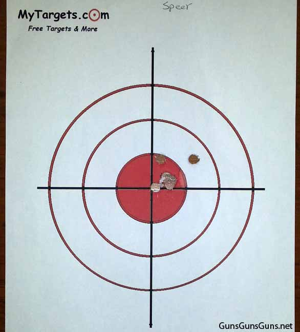 Kahr Arms MK40 target results
