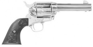 Colt Single Action Army nickel finish photo