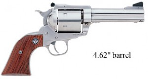 Ruger New Model Super Blackhawk 4inch stainless right side