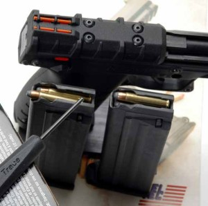 This photo shows a cartridge partially seated (left) and fully seated (right).