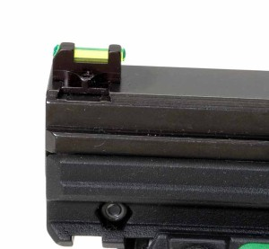 The green fiber-optic front sight.