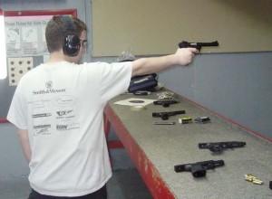 shooting the pistol photo