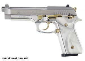Taurus 100 stainless pearl left side photo