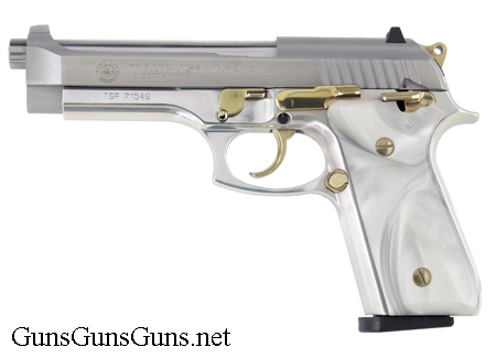 Taurus 92 stainless pearl gold left side photo
