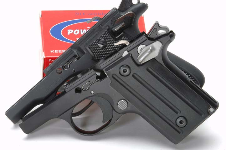 SIG P238 Colt Pocketlite frame comparison photo