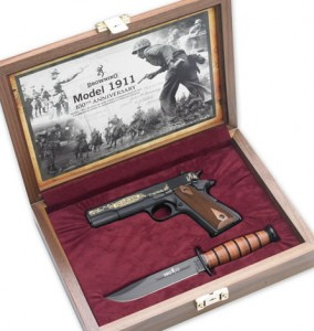 photo of Browning 1911 commemorative set