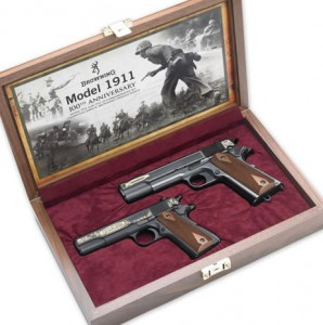 photo of Browning 1911 commemorative set II