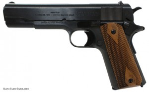 photo of Colt basic 1911 commemorative pistol