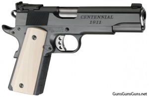 photo of Les Baer 1911 anniversary pistol