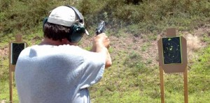 shooting the gun photo