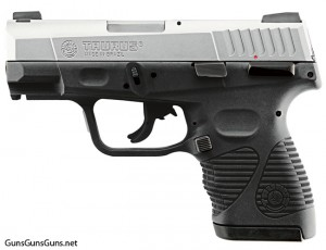 Handgun review photo: Left-side photo of Taurus 24/7 G2 compact.