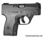Handgun review photo: Right-side thumbnail of Beretta Nano.