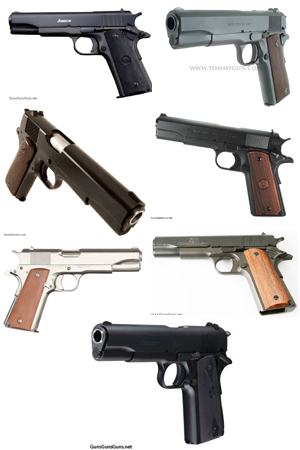 budget 1911 pistols group photo