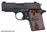 Handgun review photo: Left-side thumbnail of SIG P938.