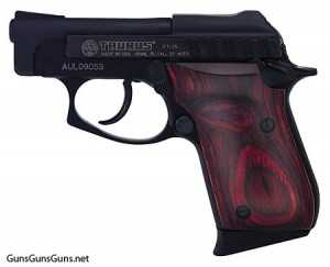 Handgun review photo: the Taurus PT-25 left side
