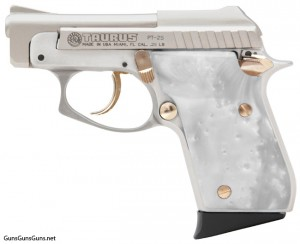 photo of Taurus PT-25 w/pearl grips, left side