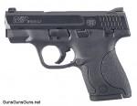 Handgun review photo: Left-side thumbnail of S&W M&P Shield.