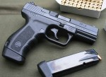 Handgun review photo: the Canik55 TP-9 from the right.