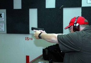 Ted Murphy sends rounds downrange with the 30S.