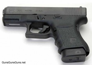 The author's Glock 30S from the left.