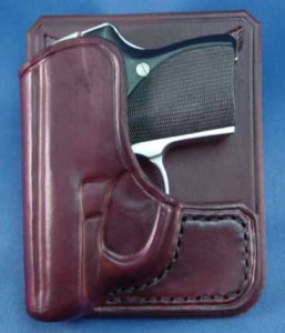 The author's Seecamp in Surrusco's back pocket holster.
