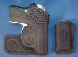 The author's Seecamp in Surrusco's front pocket holster.