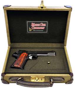 The Ithaca 1911 in the optional case.
