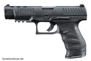 "The PPQ M2 with a 5"" barrel and chambered in .40 SW."