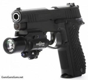 The LH9-MKII with standard sights and the black finish.