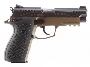 The LH9-MKII with the brown finish and Novak sights.