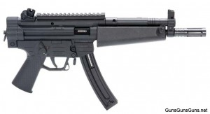 The GSG-522 Pistol from the right.
