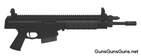 The XCR-M Mini Pistol from the right.