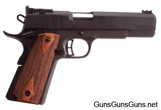 "The Pro Match 1911 with the 5"" barrel from the right."