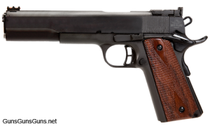 "The Pro Match 1911 with the 6"" barrel from the left."