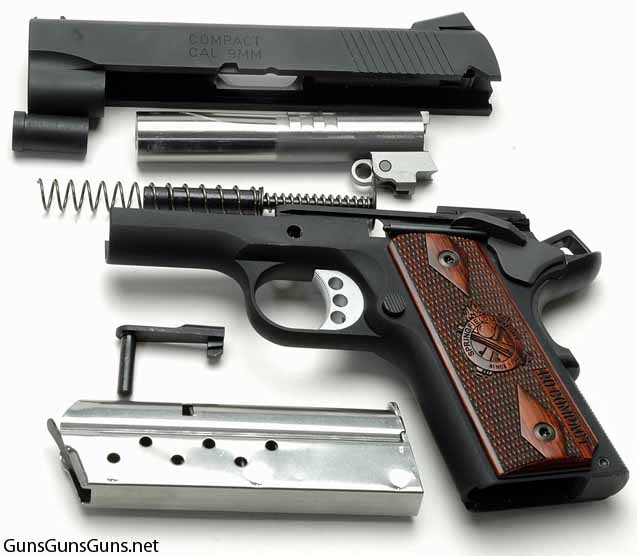 Springfield Armory Range Officer Compact disassembled photo