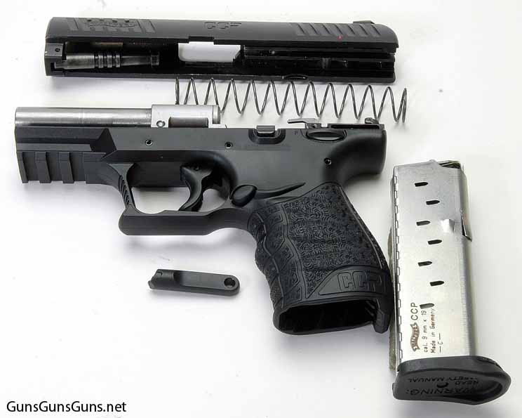 Walther CCP disassembled photo