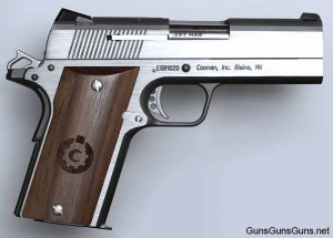 The Compact .357 Magnum Automatic from the right.