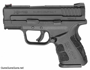 The XD Mod.2 Sub-Compact from the left with the black slide.