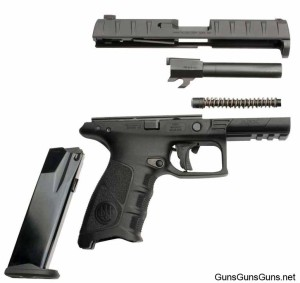 Beretta APX disassembled photo