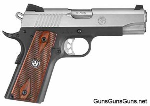 The SR1911 Lightweight Commander, from the right.