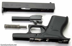 Glock 43 disassembled photo