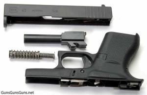 Glock 43 disassembled photo