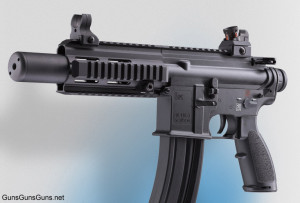 The HK 416 Pistol from the left.