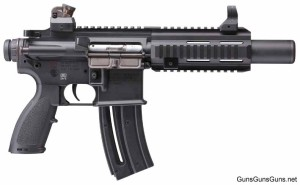 The HK 416 Pistol from the right.