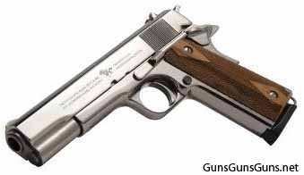 Cimarron Firearms M1911 nickel left side photo
