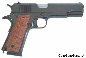 Cimarron Firearms M1911 polished blue right side photo
