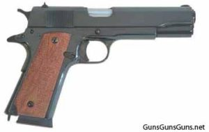 Cimarron M1911 parkerized right side photo