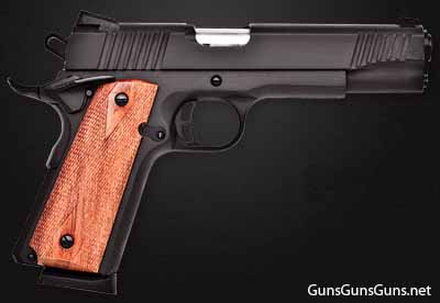 Citadel M-1911 black wood grips right side photo
