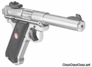 Ruger Mark IV Target stainless right side photo